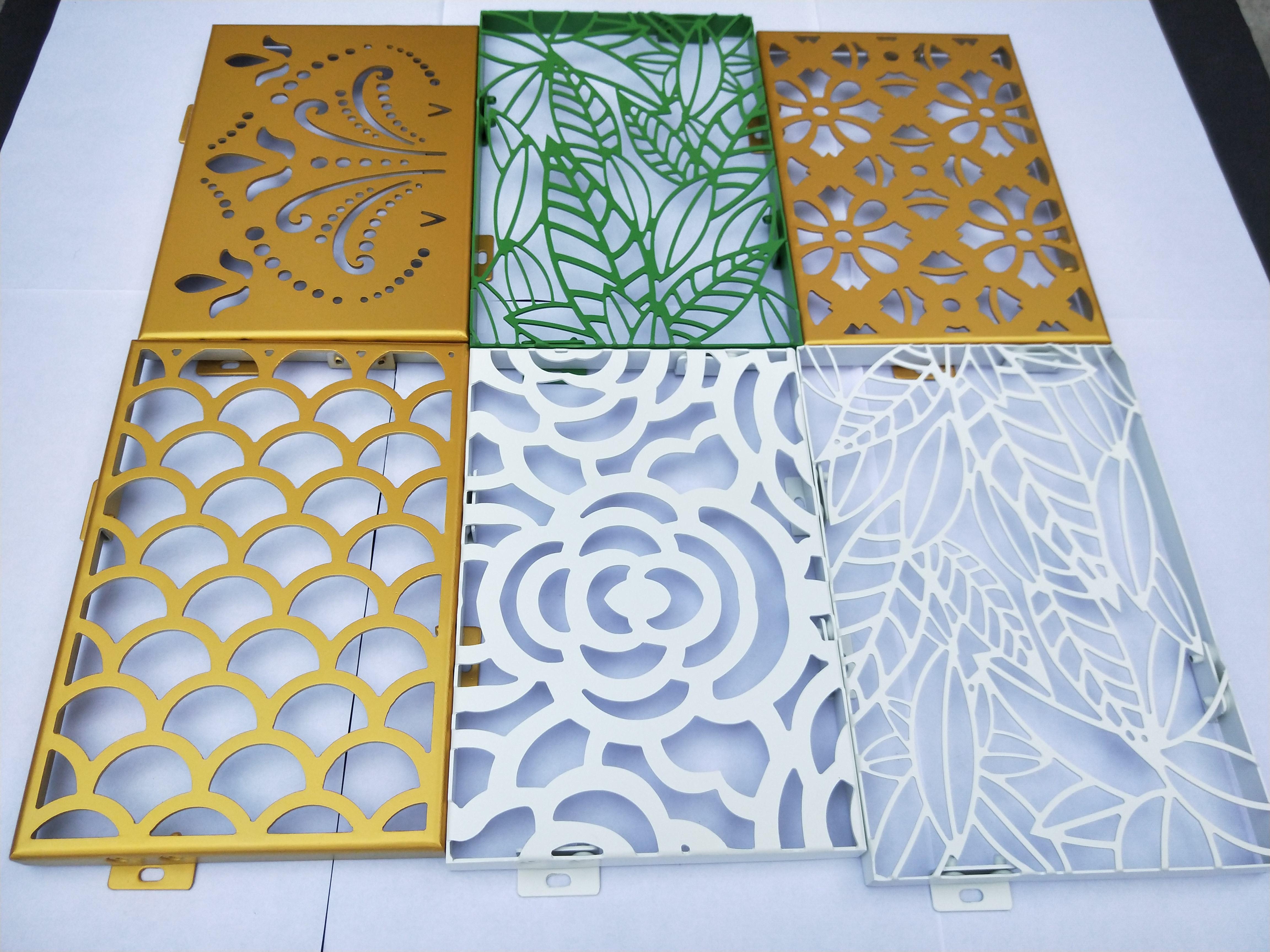 铝板雕刻镂空雕花屏风